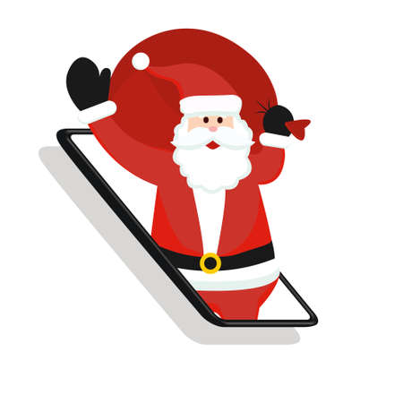 New years marketing in social networks, reaching potential customers. Christmas shopping. Lvector graphics