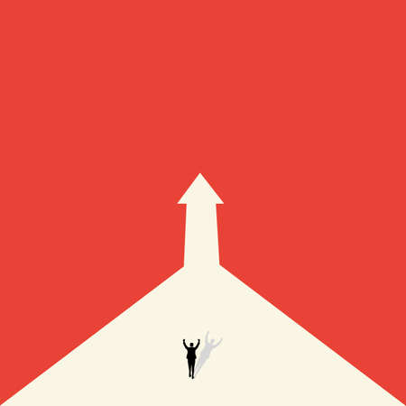 Vector concept of business opportunity, path choice or obstacle. Ideas for Businessmen. Strategy of action and future career success.minimalist design, Vector 矢量图像