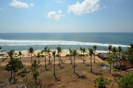nusa: Beach in Nusa Dua (West View) Stock Photo