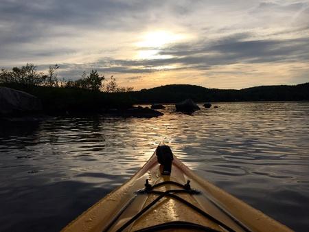 An evening kayak