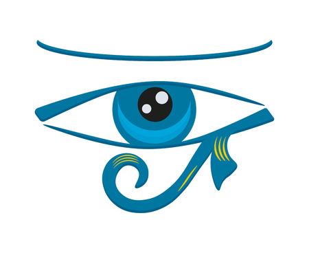 Eye of Horus. Vector illustration of an ancient egyptian symbol