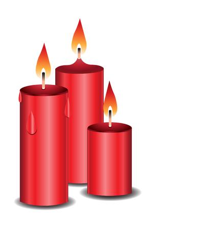event: Burning candles illustration