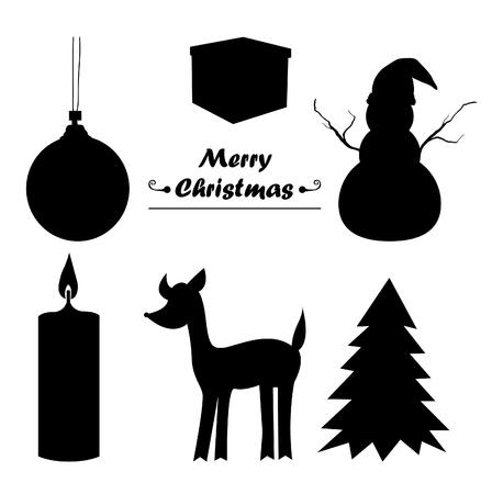 sillhouette: Christmas icon sillhouette Illustration