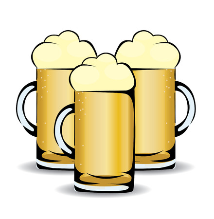 isolated illustartion: Beer illustartion isolated on white