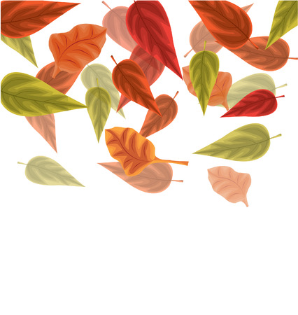 background herfst: Autumn background with leaves Stock Illustratie