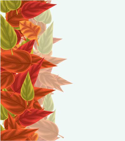 autumn background: Autumn background with leaves Illustration