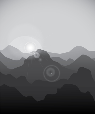 hill distant: Mountain background Illustration