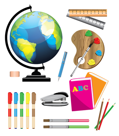 the equipment: School equipment Illustration