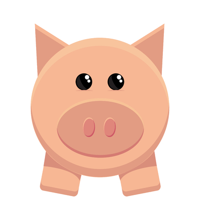 savings account: bacon, making, loan, debt, vector,  symbol, wealth, full, bank, gift, pork, finances, box, illustration, coin, object, money,   gold, piggy, painting, pig, art, account, cheerful, manager, banking, cartoon, savings, animal Illustration