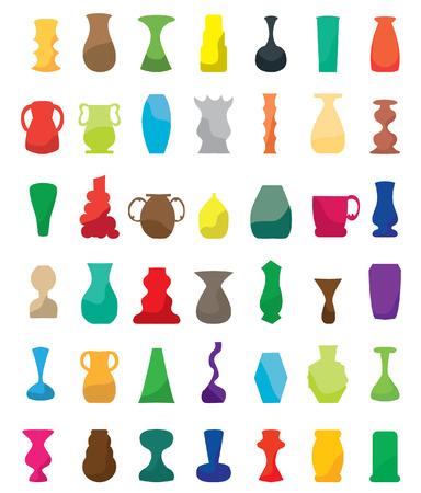 receptacle: Colorful vases set