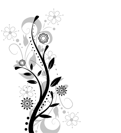retro design: flower design