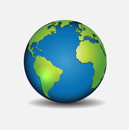 the globe: Globe icon Vettoriali