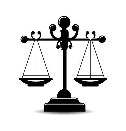 Justice scale icon Illusztráció