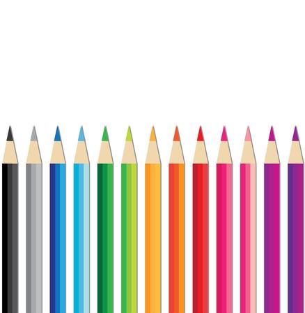 colored pencils: Set of Colored Pencils