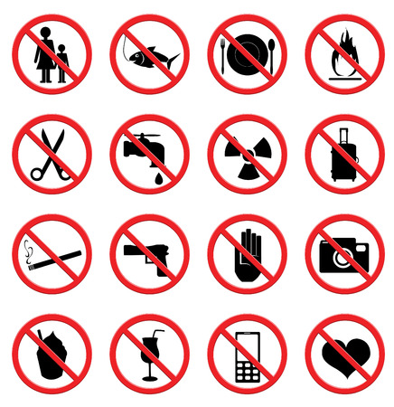 mobile phones: Prohibited Signs