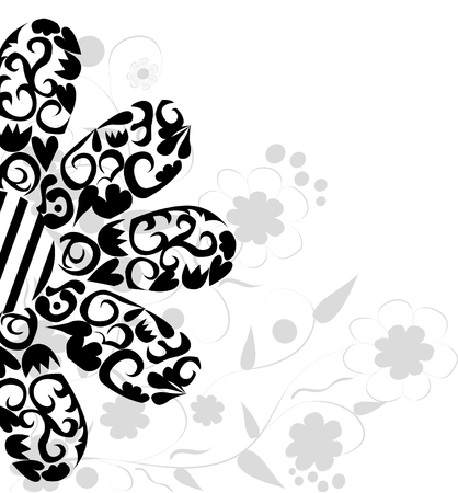 abstract floral: Abstract floral background. Vector.