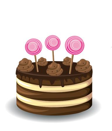 cake plate: Sweet chocolate cake