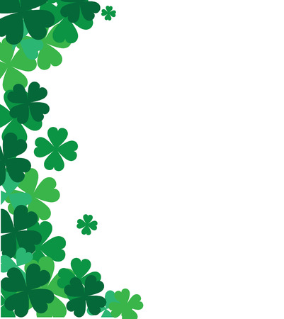 St. Patricks corner border with shamrock