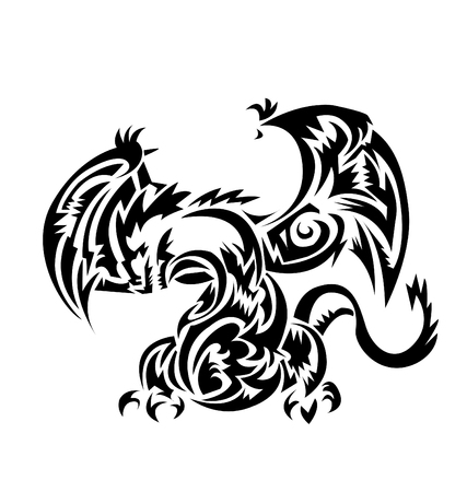 orginal: Dragon tatoo Tribal Illustration