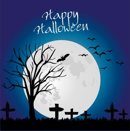 halloween tree: Halloween tree backgound Illustration