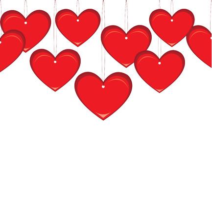 el coraz�n de san valent�n: Valentine heart illustration Vectores