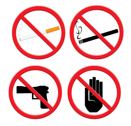 killing cancer: No Smoking Sign Illustration