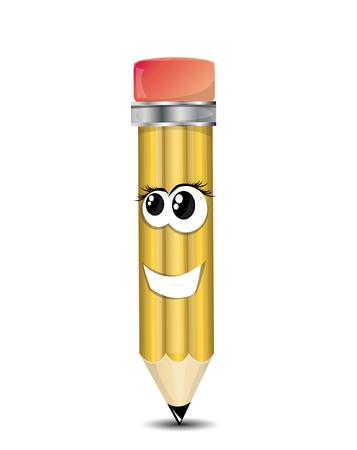 pencil cartoon: Pencil Cartoon Character Vectores