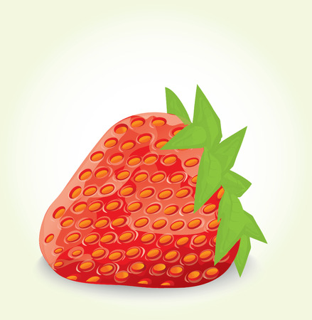 healty food: ripe red strawberry