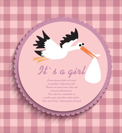 baby girl: baby shower card for baby girl,