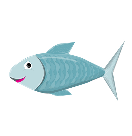 blue fish: Blue Fish  Vector Illustration