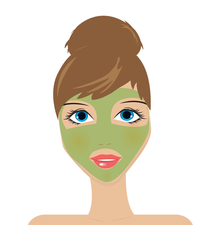 hair mask: Beauty mask Illustration