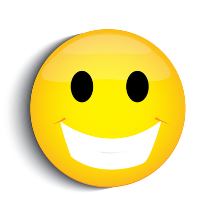 smiley face cartoon: Cara sonriente feliz Vectores