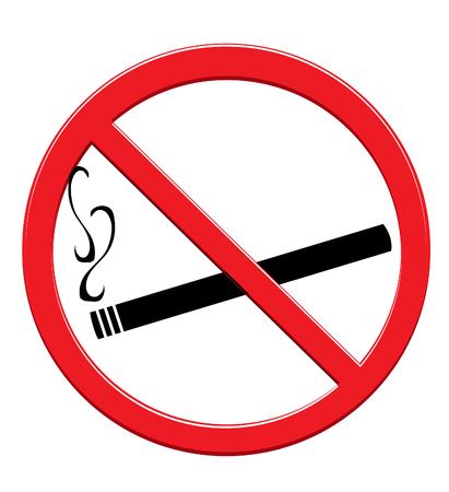 murderer: No Smoking Sign Illustration