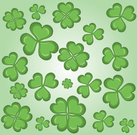 four fourleaf: clover background vector