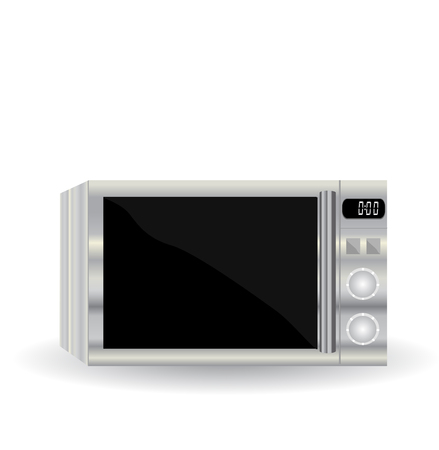 microwave oven: Realistic vector illustration by microwave