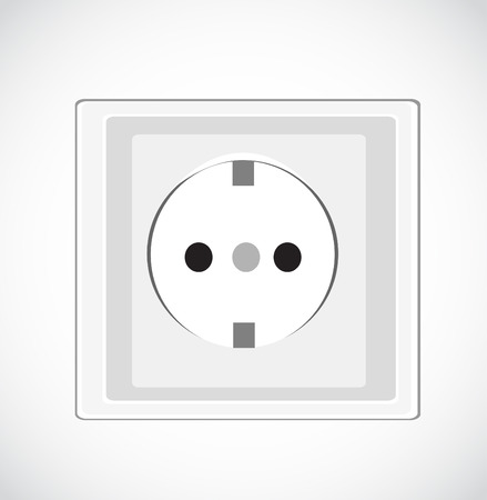 disconnect: Electrical outlet vector
