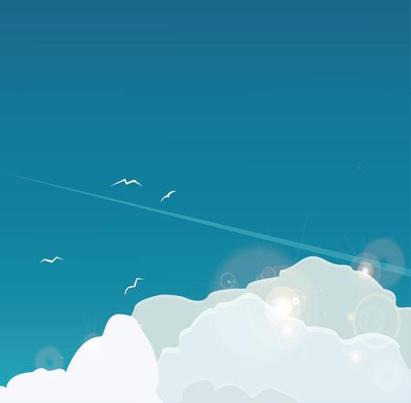 clouds scape: clouds In Blue Sky