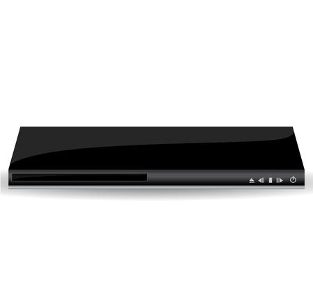 tv unit: dvd player vector