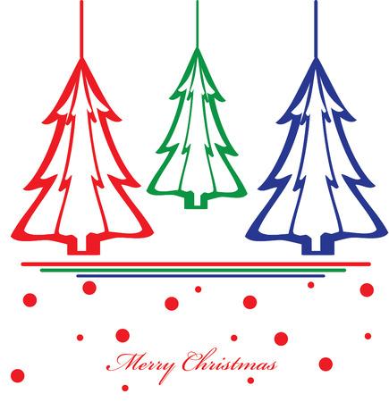 christmas tree illustration: vector christmas tree illustration