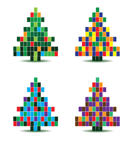 christmas tree illustration: vector christmas tree illustration