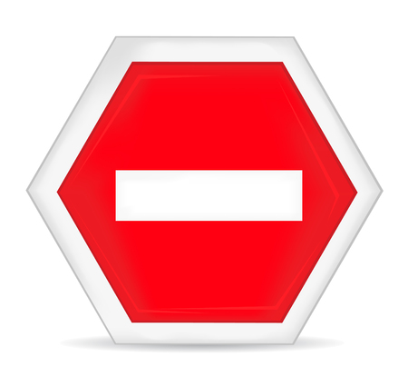 entry: No entry stop hand sign Illustration
