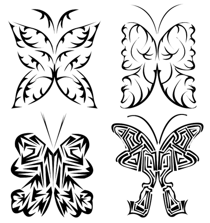 beautifull: beautifull butterfly tattoo set