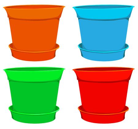 flowerpots: collection of flowerpots