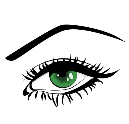 green eye: beautiful female green eye