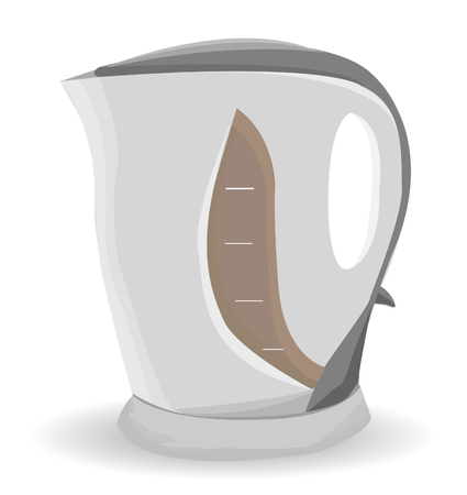 electric kettle: Electric kettle on a white background. Vector illustration