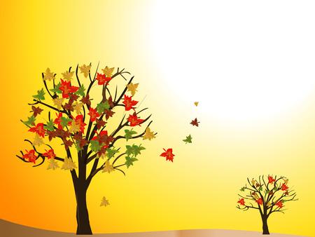 seasonal: seasonal tree autumn Illustration