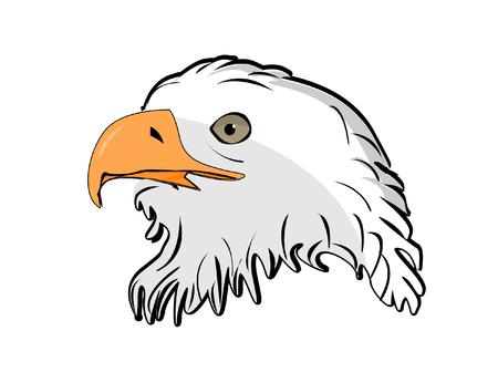 illustratie van vector kop eagle Stock Illustratie