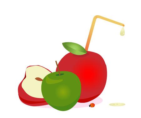 apple juice: Apple juice, vector