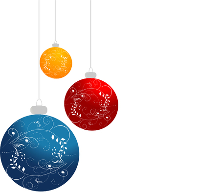 ornamented: Ornamented Christmas balls Illustration