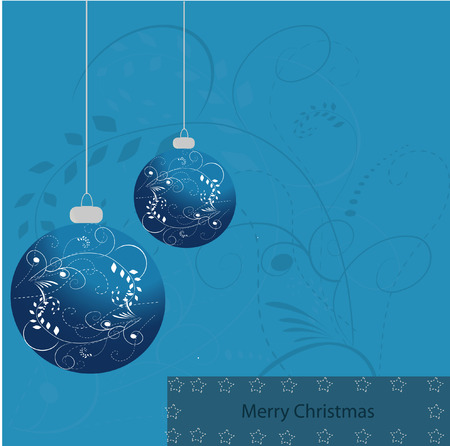 blue sphere: merry x-mas card blue